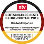 wirsindhandwerk.de ist ausgezeichnet mit dem Award 'Deutschlands Beste Online-Portale 2019'
