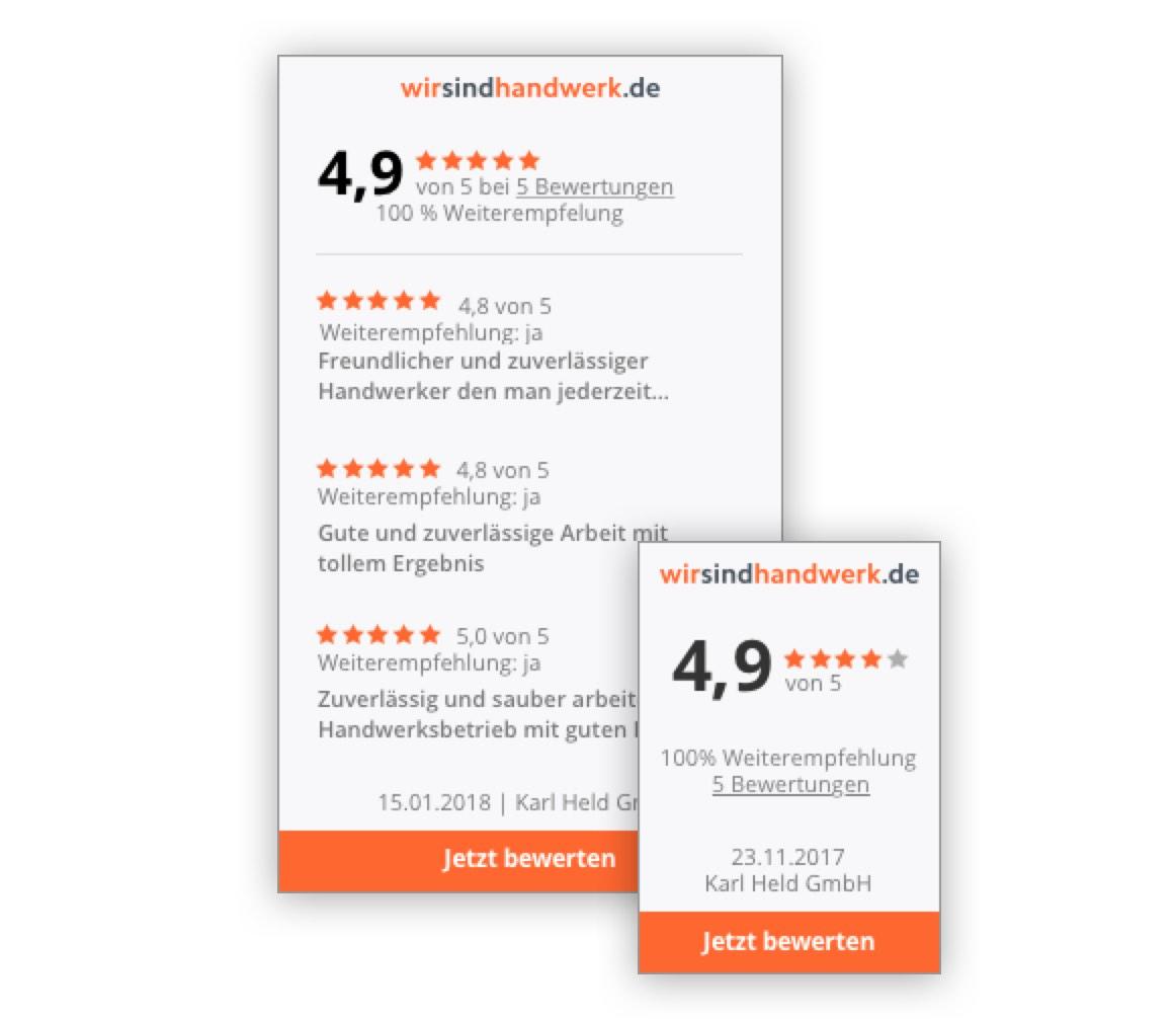 Widget Ihr digitales Qualitätssiegel