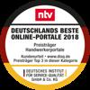 wirsindhandwerk.de ist ausgezeichnet mit dem Award 'Deutschlands Beste Online-Portale 2018'